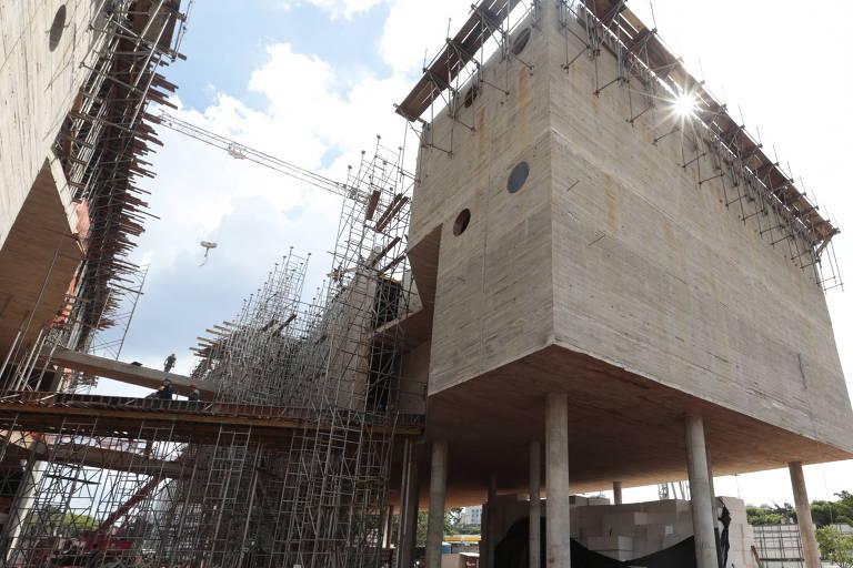 Vista das obras do Museu do Trabalho e do Trabalhador, em São Bernardo do Campo, em dezembro de 2013