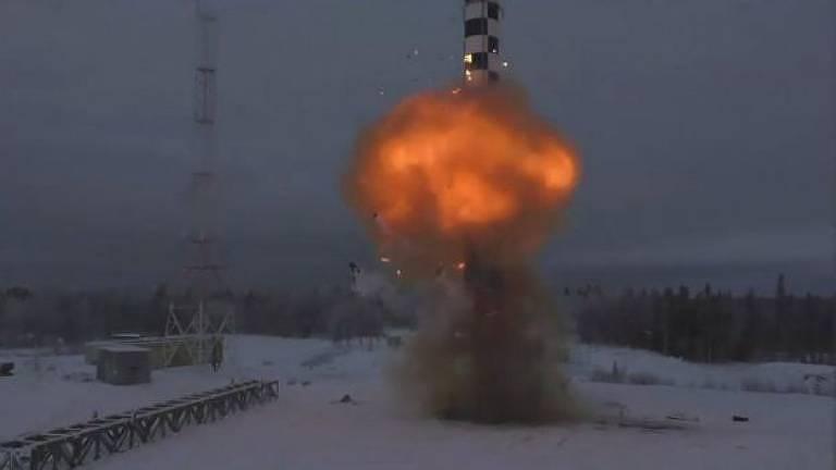 O míssil foi lançado a partir de Plesetsk, próximo ao Círculo Polar Ártico