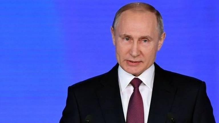 """Putin apresentou um conjunto de armas que classificou como """"invencíveis"""" no dia 1 de março"""
