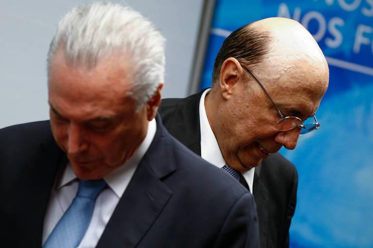 Ministro Henrique Meirelles (Fazenda) em ato de filiação ao MDB, partido do presidente Michel Temer