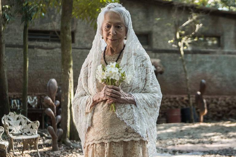 Casamento de Mercedes (Fernanda Montenegro) e Josafá (Lima Duarte) em 'O Outro Lado do Paraíso' (Globo)