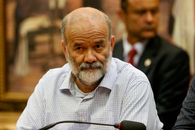 João Vaccari Neto durante depoimento à CPI dos Fundos de Pensão