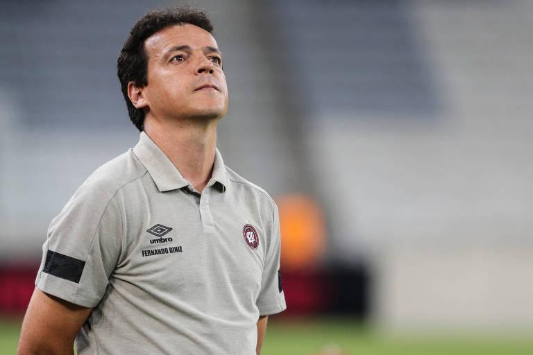 Fernando Diniz, técnico do Fluminense, estava no Athletico-PR no ano passado
