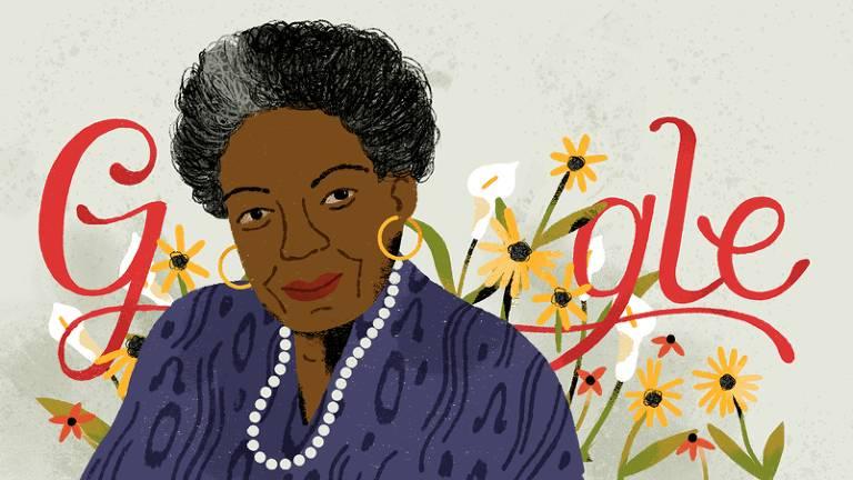 Google Doodle em homenagem à poeta Maya Angelou