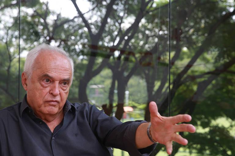 Carlos Augusto de Barros e Silva, o Leco, durante entrevista em 2018
