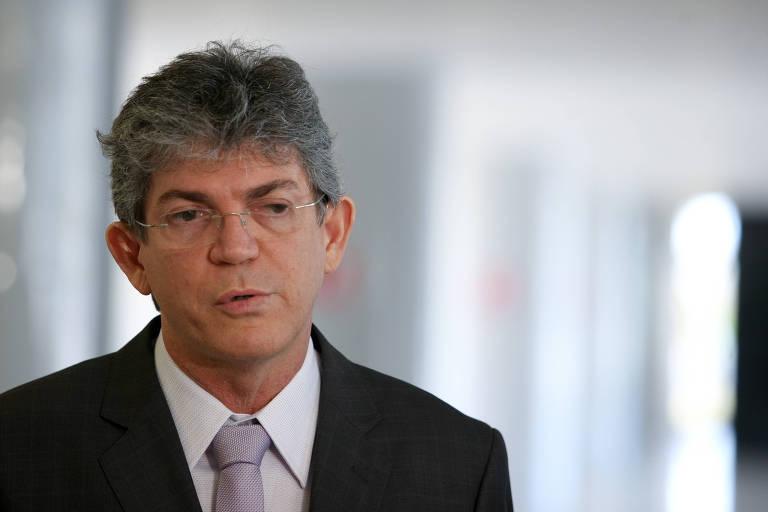 O governador da Paraíba, Ricardo Coutinho (PSB), no Palácio do Planalto, em Brasília