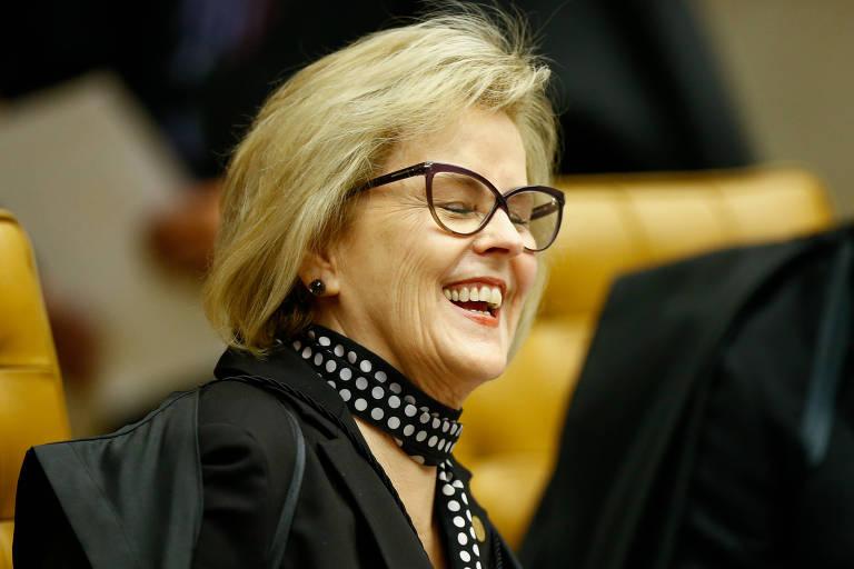 A ministra do STF Rosa Weber, durante inicio da sessão que votará o pedido de habeas corpus do ex-presidente Lula