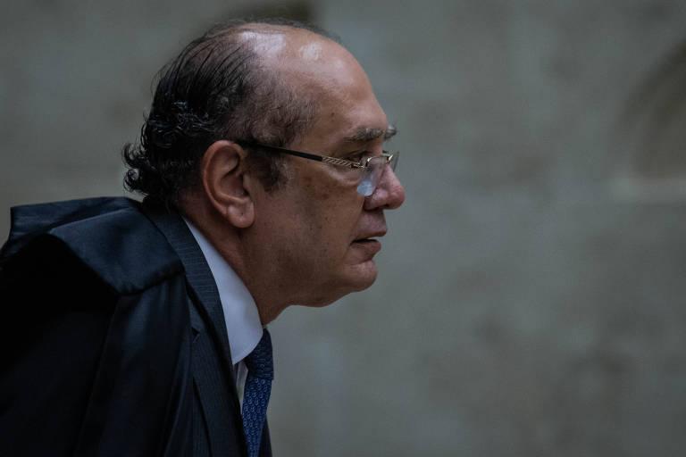 O ministro do STF Gilmar Mendes durante sessão para julgar pedido de Habeas Corpus do ex-presidente Lula