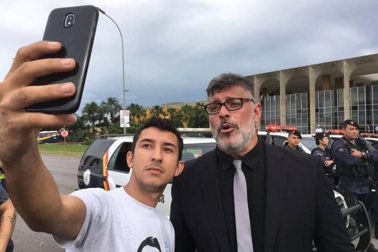 Alexandre Frota em protesto em Brasília