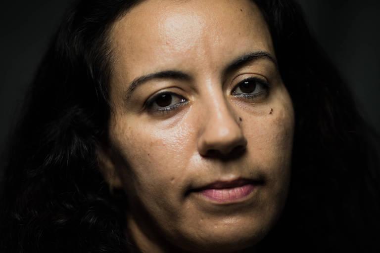 A marroquina Bouchra Rachidi, 37, que está no Brasil há dois meses