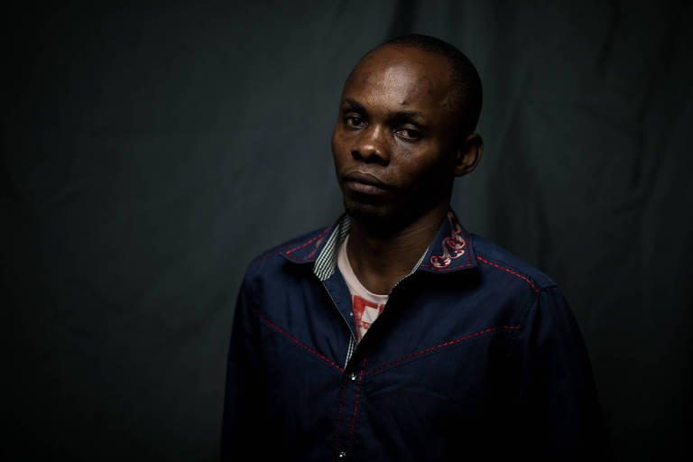 O engenheiro civil Jean Katumba Mulondayi, 39, chegou ao Brasil como refugiado, saindo do Congo, há cinco anos; no terceiro mês no Brasil, criou com outros 20 refugiados uma associação, hoje formalizada e com sede própria