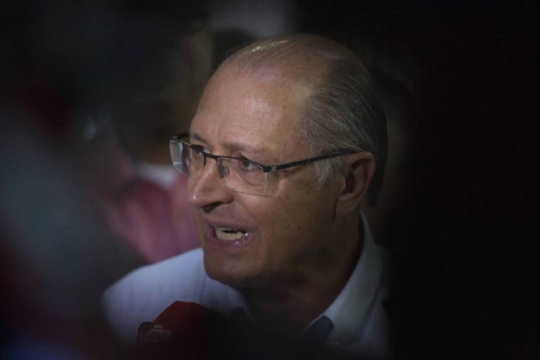 O ex-governador de São Paulo Geraldo Alckmin, durante evento oficial