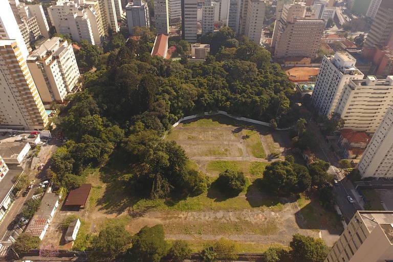 Terreno do Parque Augusta, em São Paulo