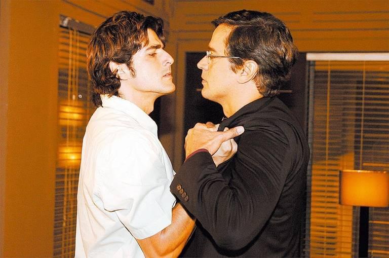 Reynaldo Gianecchini (Pascoal) e Marcello Antony (André), em cena da novela