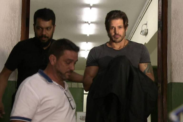 O ator Dado Dolabella no dia de sua prisão, depois da Justiça do Rio expedir um mandado por falta de pagamento de pensão alimentícia