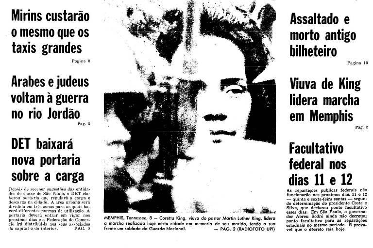 1968: Brasil e EUA têm mobilização por Amilton Fernandes e Luther King