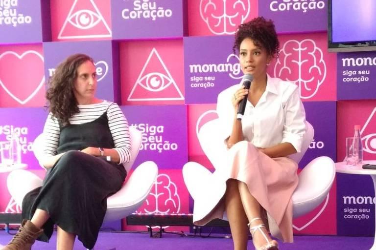 Jout Jout e Taís Araújo em evento da Casa da Intuição