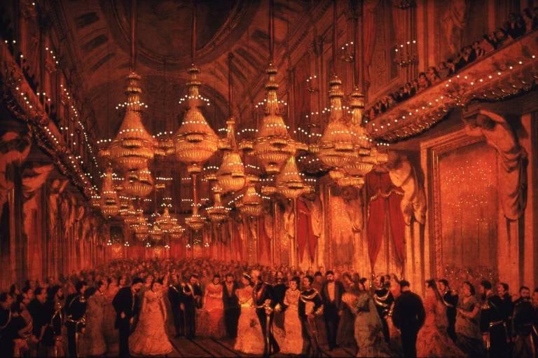 salao de festas pintado de vermelho