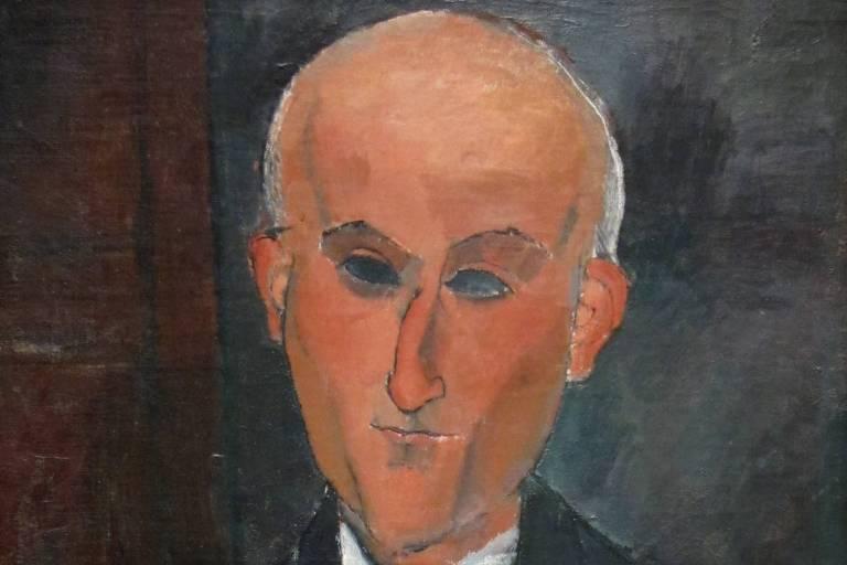 Retrato de Max Jacob feito por Modigliani