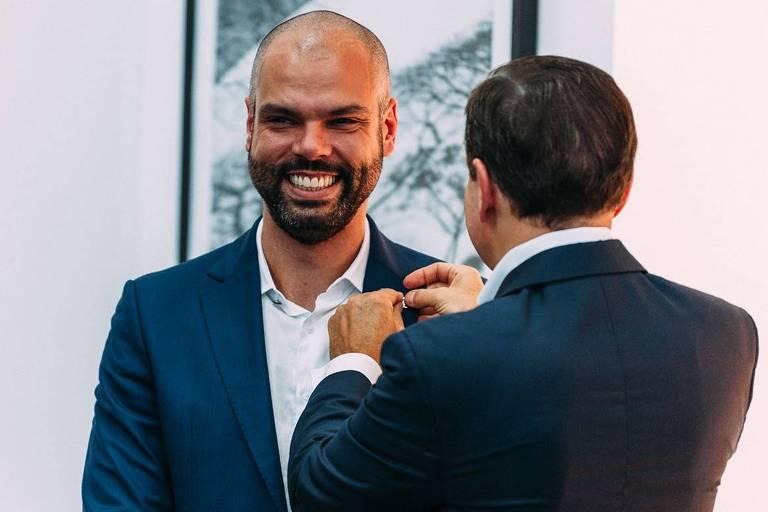 Reunião de secretariado e transmissão do cargo de prefeito para Bruno Covas