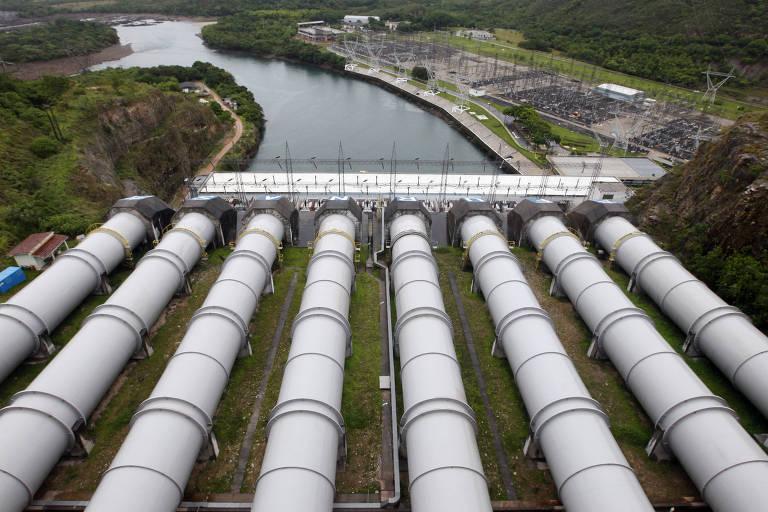 Vista da hidrelétrica de Furnas, em Minas Gerais