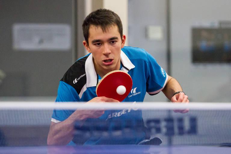 Prodígio, mesa-tenista brasileiro diz que já joga no nível dos 'top 10' da categoria