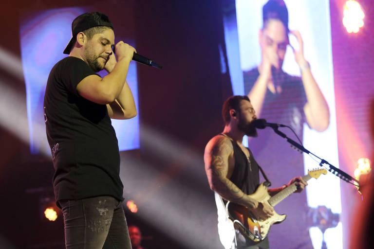 Jorge e Mateus fazem show para divulgar álbum 'Terra Sem Cep' (6.abr.2018)
