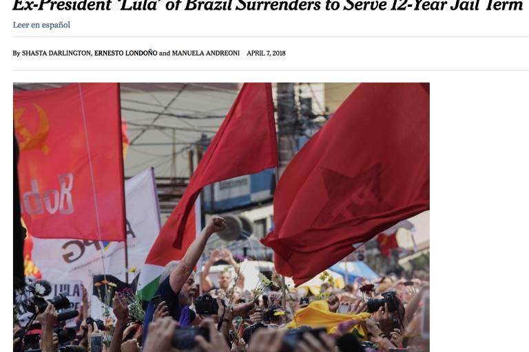 Prisão de Lula na mídia internacional