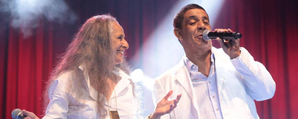 Maria Bethânia e Zeca Pagodinho na estreia do show 'De Santo Amaro a Xerém' em Recife