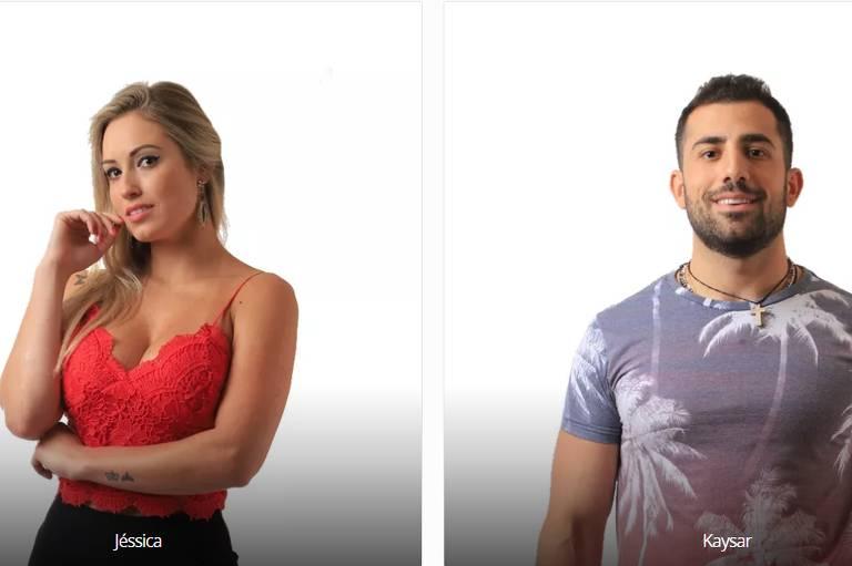Paredão no BBB 18, reality da Globo, com Jéssica e Kaysar