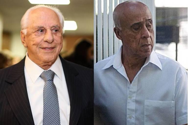 O advogado José Yunes e o coronel da PM José Baptista Lima Filho