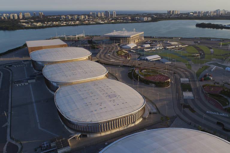 Arenas do Parque Olímpico do Rio de Janeiro, na Barra da Tijuca
