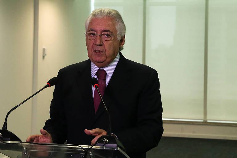 Guilherme Afif Domingos em reunião de mobilização e investimentos promovida pela CNI
