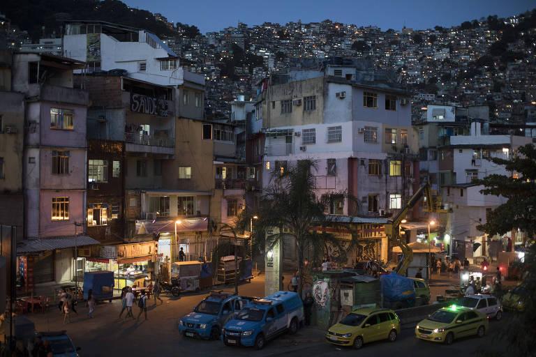 Imagem da favela da Rocinha, na zona sul do Rio, que tem sofrido com tiroteios nos últimos meses