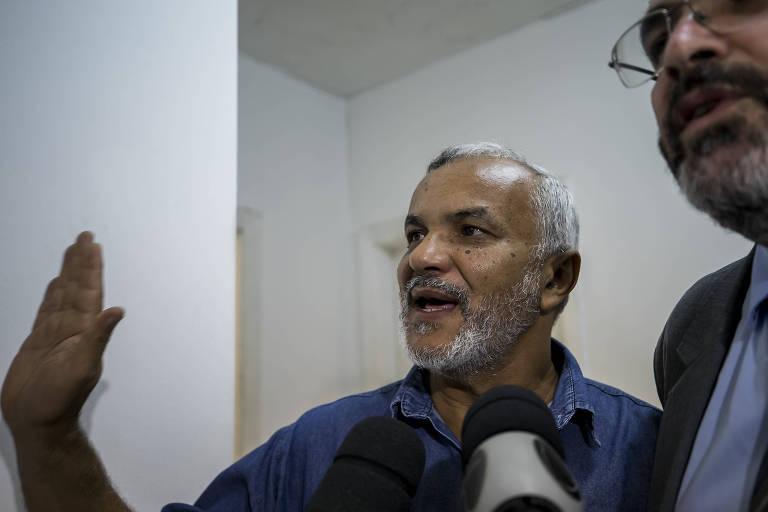 Acusado de ter agredido um manifestante critico a Lula, o ex-vereador Manoel Eduardo Marinho, conhecido como Maninho do PT, após prestar depoimento em São Paulo