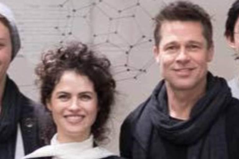 Neri Oxman e Brad Pitt foram fotografados juntos em novembro de 2017