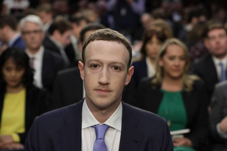 Zuckerberg depõe ao Congresso americano em 2018
