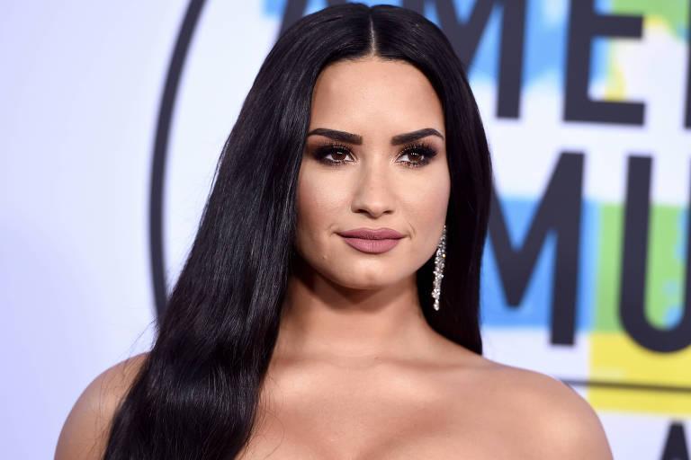 Demi Lovato no American Music Awards em Los Angeles, em abril de 2018