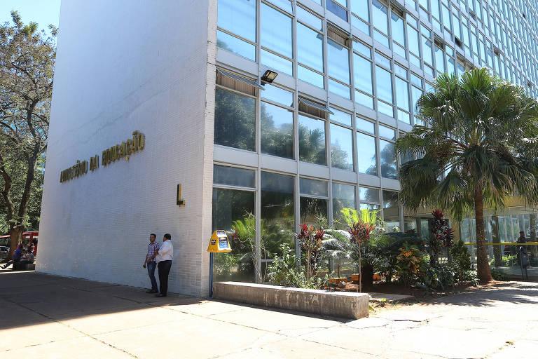 Fachada do prédio do Ministério da Educação, na Esplanada dos Ministérios