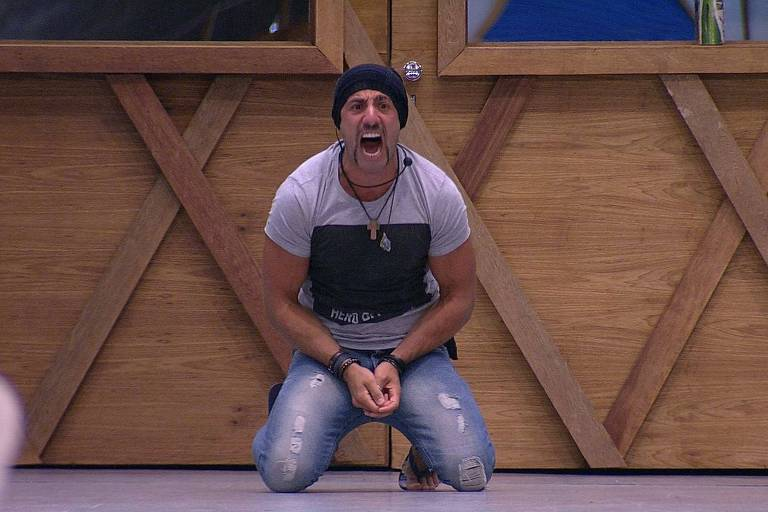 Kaysar, após vencer Jéssica no 12º paredão do BBB 18 (Globo)
