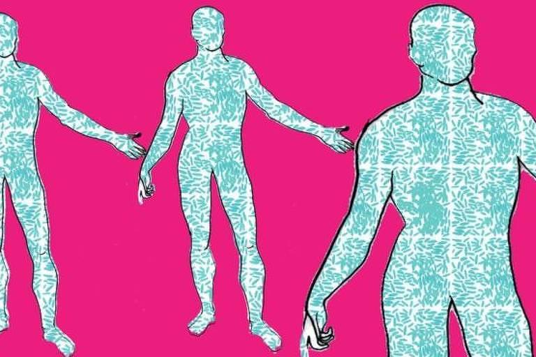 Ilustração simula o que seria um corpo-bactéria