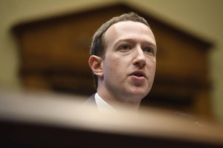 Mark Zuckerberg durante depoimento a comissão da Câmara dos EUA, em Washington