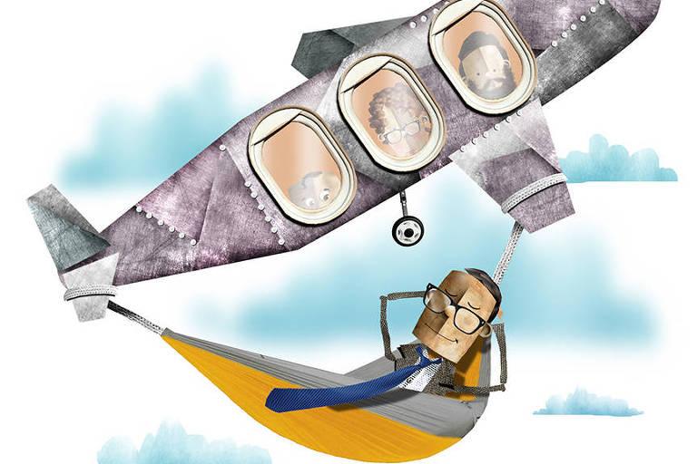Ilustração de Elder Galvão para matéria sobre seguro-viagem