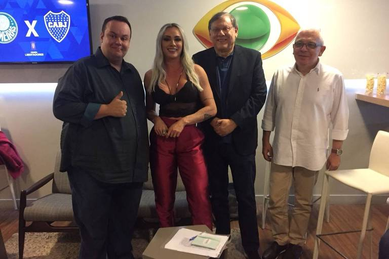 Milton Neves e Juju Salimeni apresentam o Show do Esporte (Band)