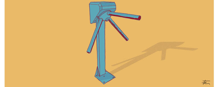 Ilustração de uma catraca