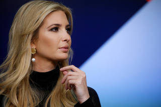 White House senior advisor Ivanka Trump takes part in a forum called Generation Next at the Eisenhower Executive Office Building in Washington