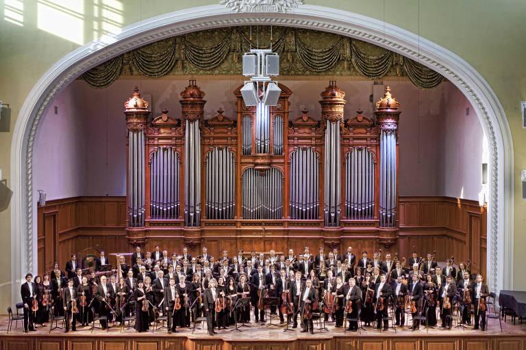 A Orquestra Sinfônica Estatal Russa é regida pelo norueguês Terje Mikkelsen