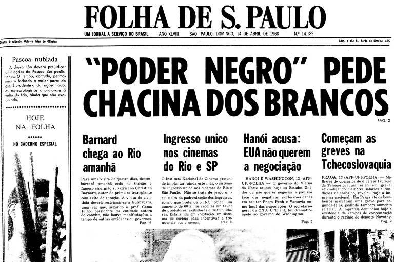 1968: Para líder do Poder Negro, EUA devem 'queimar de cima a baixo'