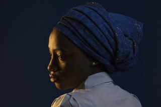 Rahab Ibrahim at the American University of Nigeria in Yola, Nigeria.
