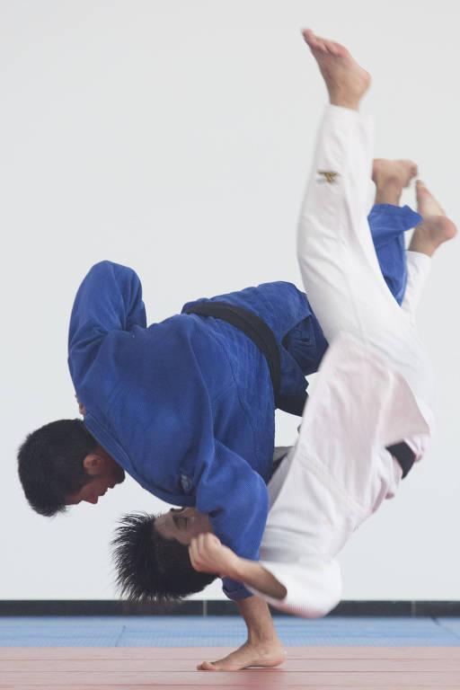 Judocas durante Treinamento de Campo Internacional da Confederação Brasileira de Judô no hotel Colonial Plaza